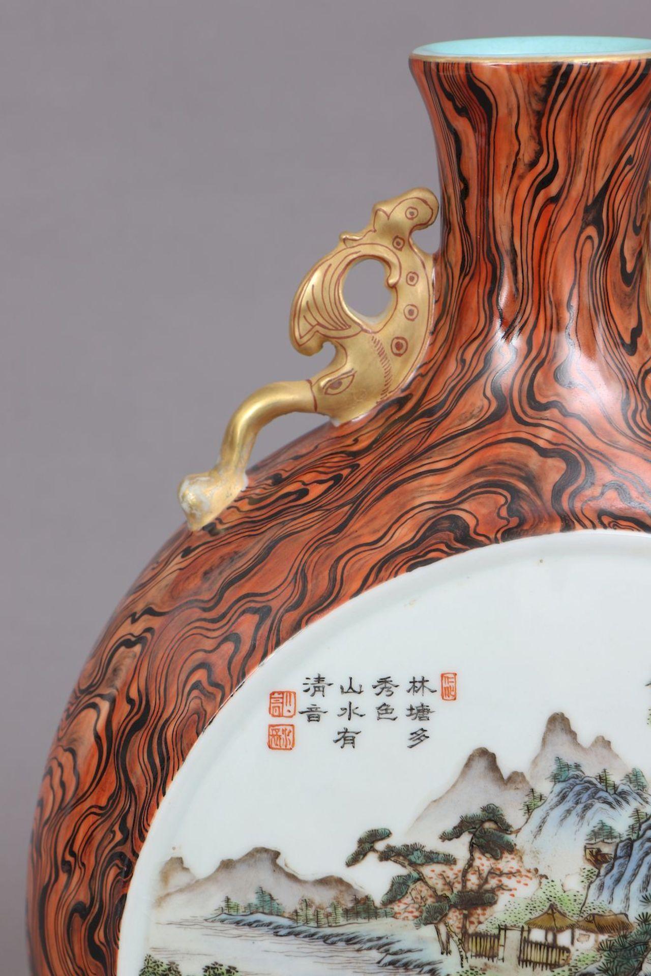 Chinesische Vase in Pilgerflaschen-Form - Image 3 of 5