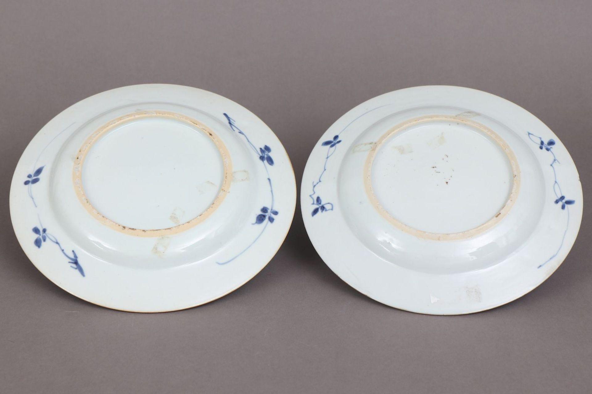Paar chinesische Porzellanteller - Image 3 of 3