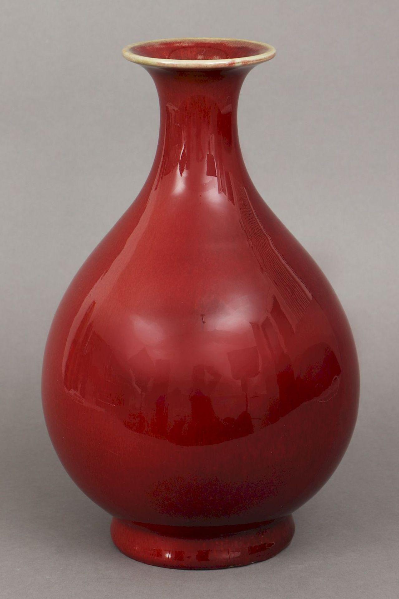 Chinesische ¨sange-de-boeuf¨ (Ochsenblut) Vase