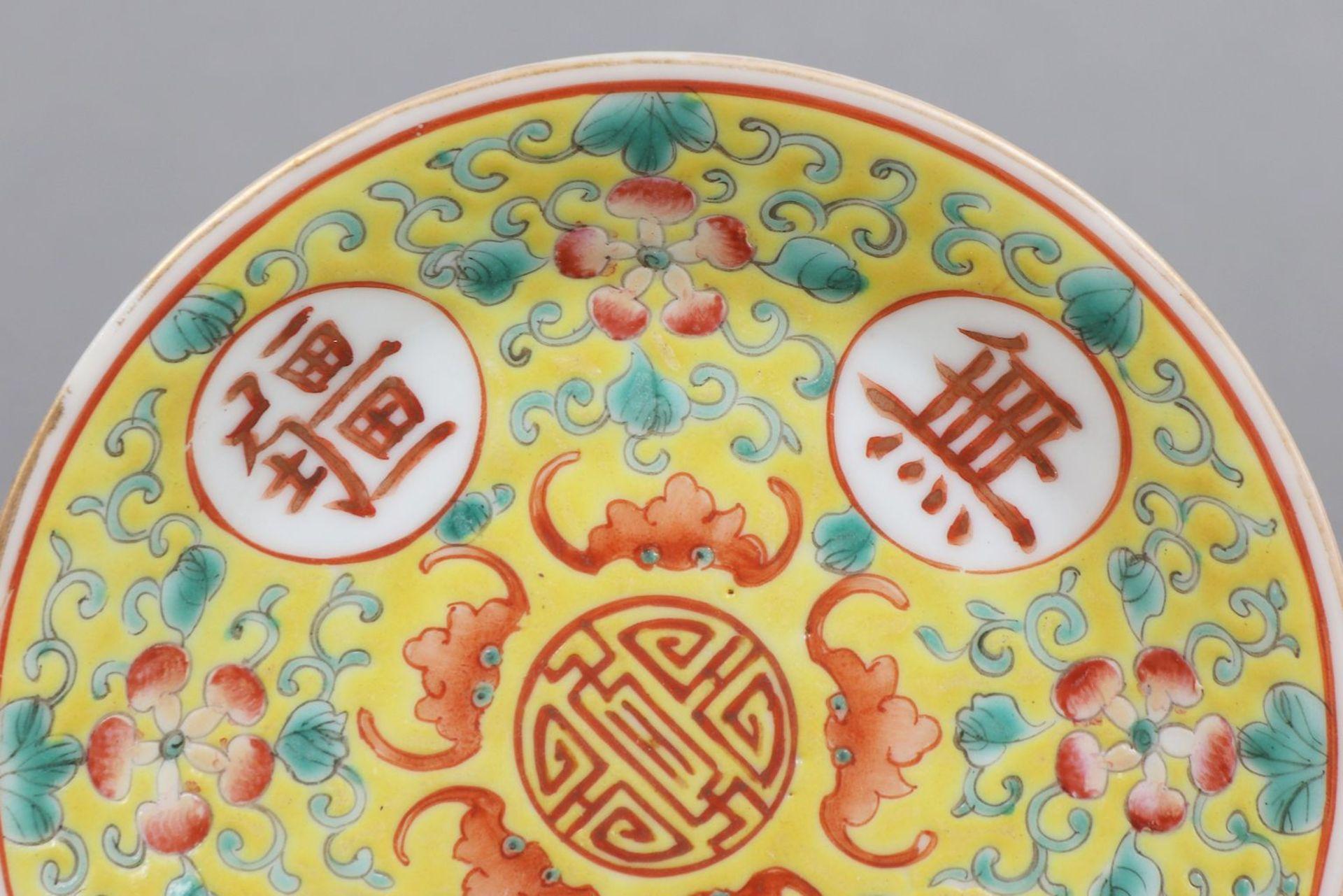 6 chinesische Tassen mit Untertassen - Bild 3 aus 6