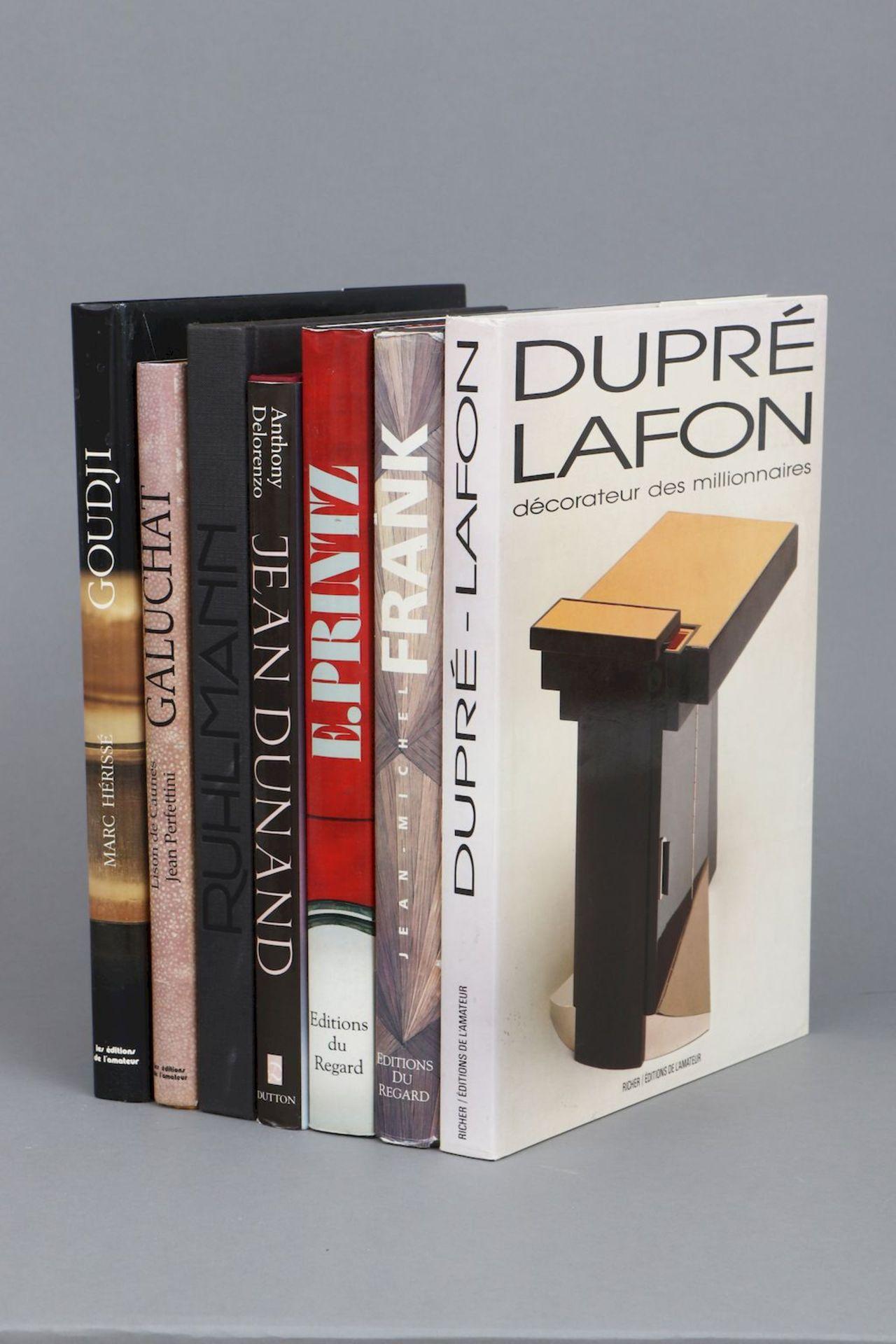 7 Kunstbücher zum Thema ¨Französische Designer des 20. Jahrhunderts¨