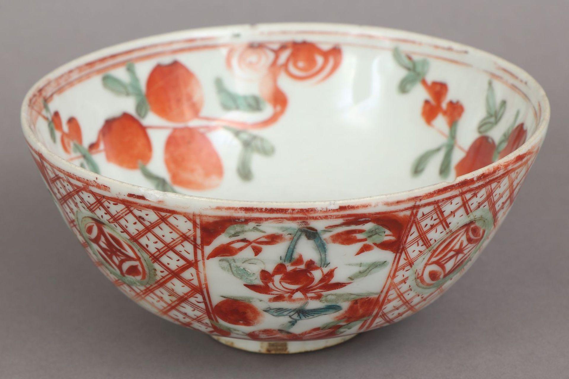 Chinesische Porzellanschale mit Pfirsichdekor