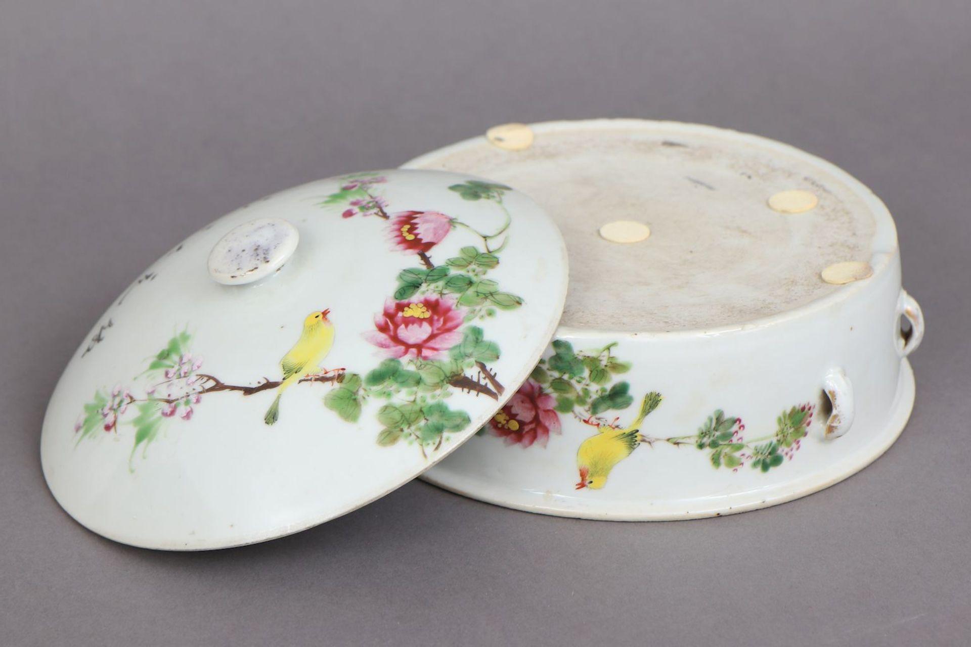 Chinesische Porzellan Deckeldose der späten Qing Dynastie (1644-1912) - Image 4 of 4