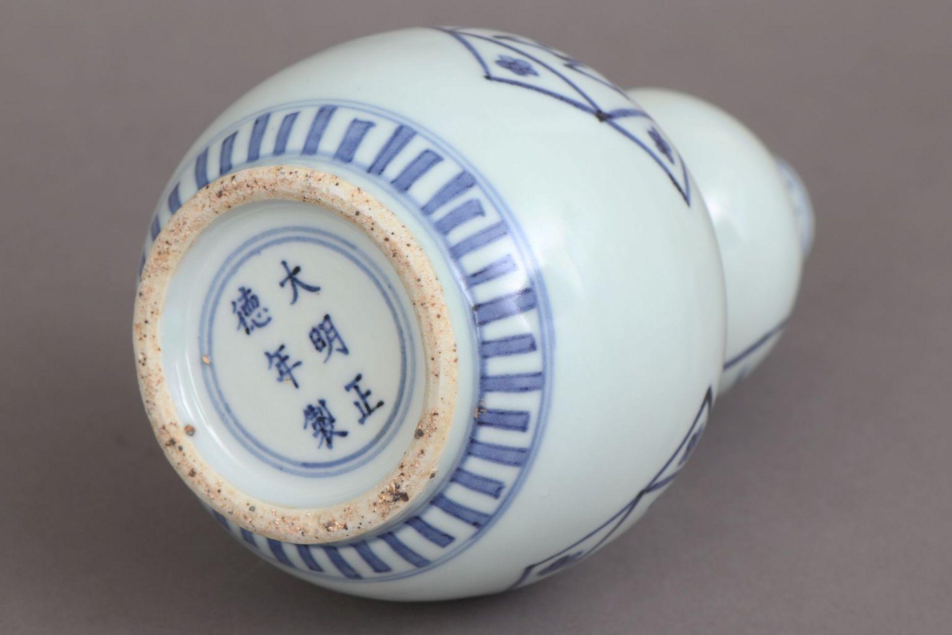 Chinesische Doppelkalebassenvase für den arabischen Markt - Bild 4 aus 4