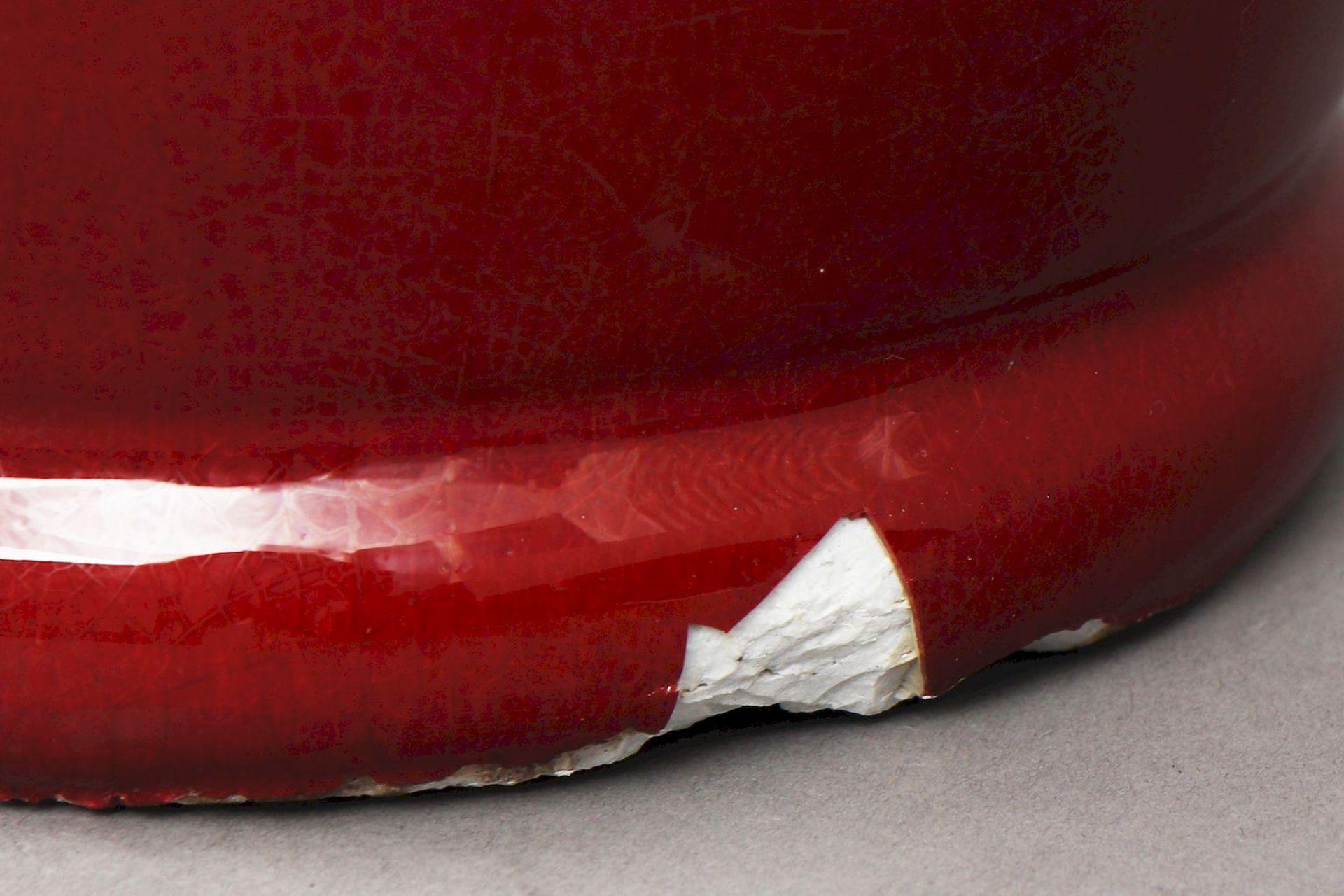Große chinesische ¨sange-de-boeuf¨(Ochsenblut) Vase - Image 5 of 5