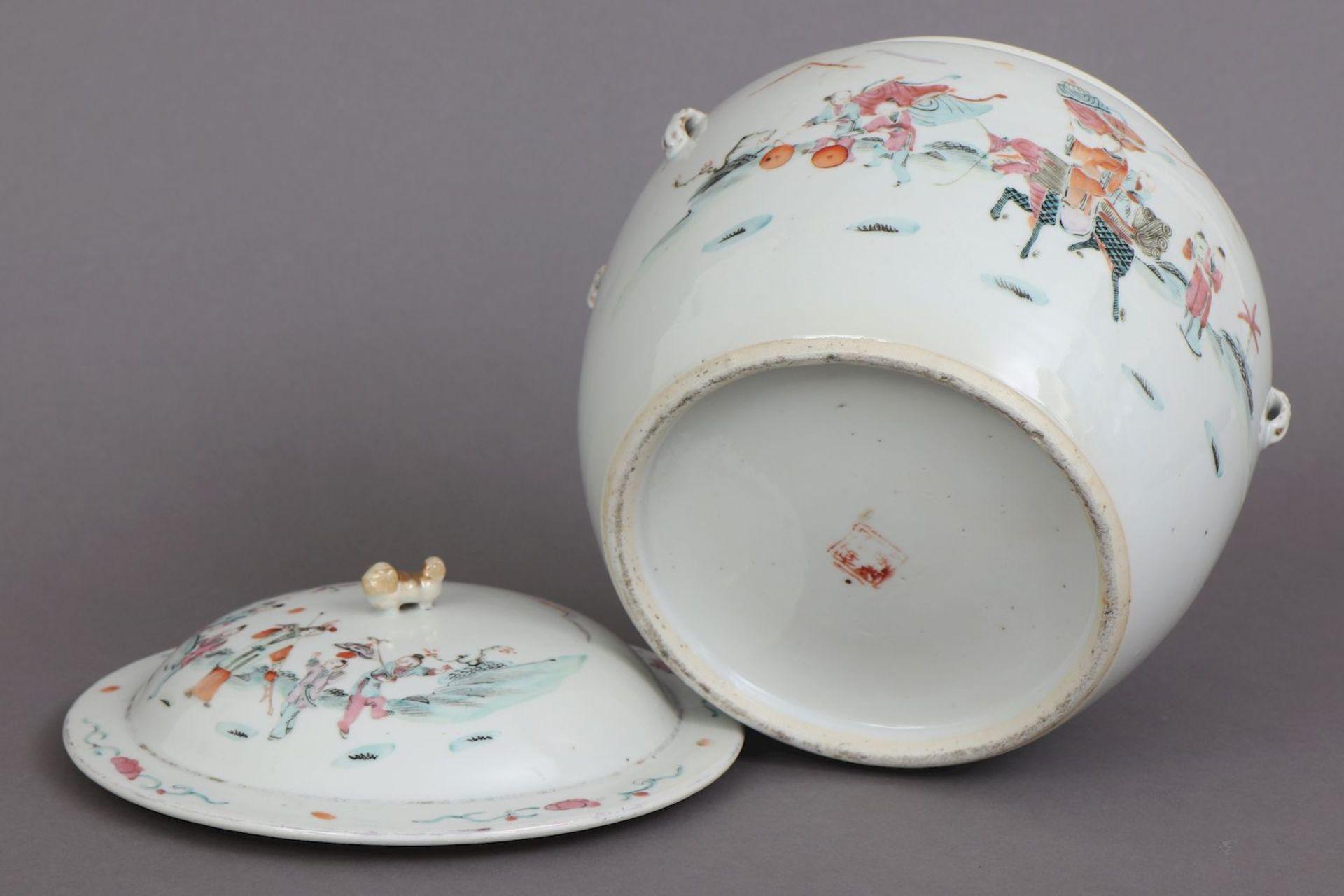 Chinesischer Porzellan Vorratstopf - Image 5 of 5
