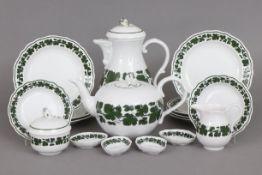 MEISSEN Kaffee-/Tee-Restservice2. Hälfte 20. Jahrhunderts, Form ¨Neuer Ausschnitt¨,