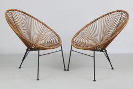 Paar Sitzschalen im Stile von ¨Acapulco¨ Chairs