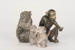 Konvolut Affenfiguren