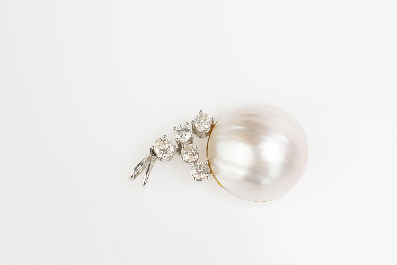 Schmuckset mit Mabé-Perlen und Brillantbesatz - Image 4 of 4