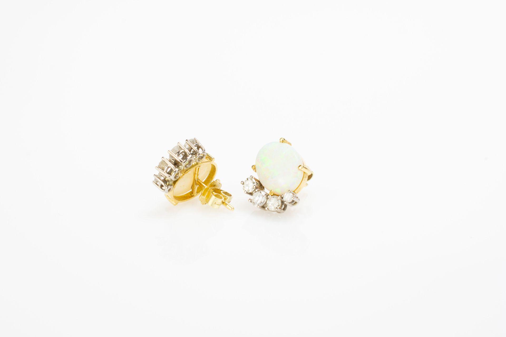 Schmuckset mit Milchopalen und Diamantbesatz - Image 7 of 7