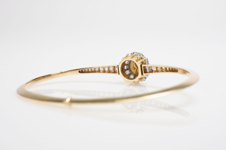 Armreif mit zentraler Perle und Diamantbesatz - Image 4 of 4
