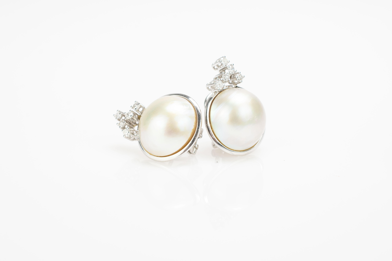 Schmuckset mit Mabé-Perlen und Brillantbesatz - Image 3 of 4