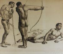 Drei Bogenschützen