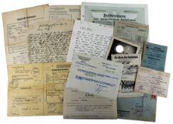 Großes Konvolut Papiere, Bilder, Zeitungen meist Deutsches Reich 1933 - 1945, unter anderem
