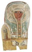 Ägyptische Sarkophag-Maske, spät-ptolemäisch, griechisch-römisches Ägypten ca. 6.-2. Jh. v. Chr.,