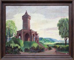 Becker, Richard (1888-1956), Das Winterbergdenkmal in Saarbrücken, das an den Sieg Preußens bei