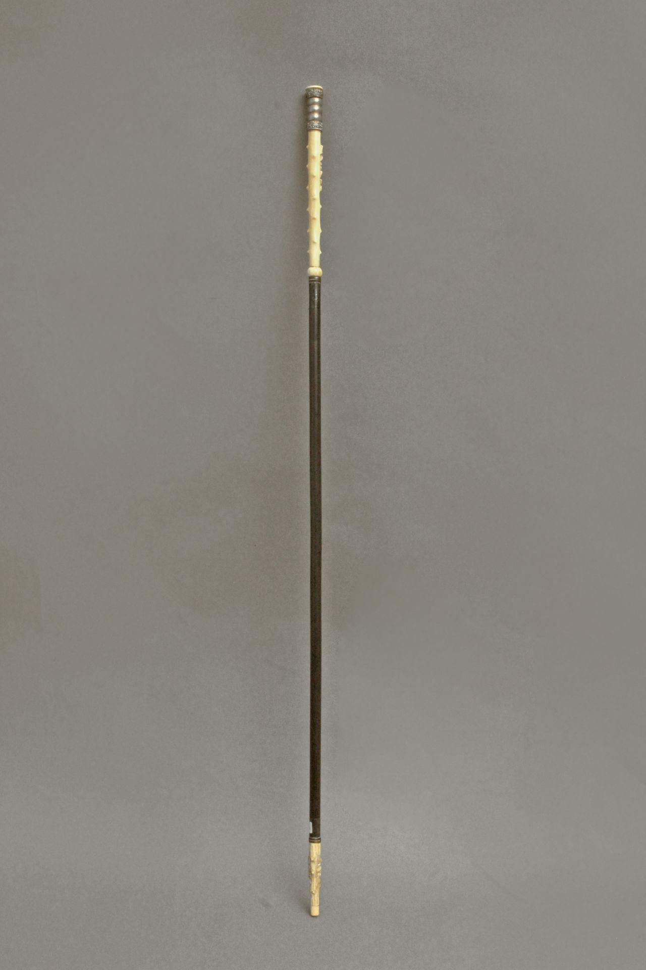 An ivory handled walking stick circa 1900 - Bild 8 aus 9