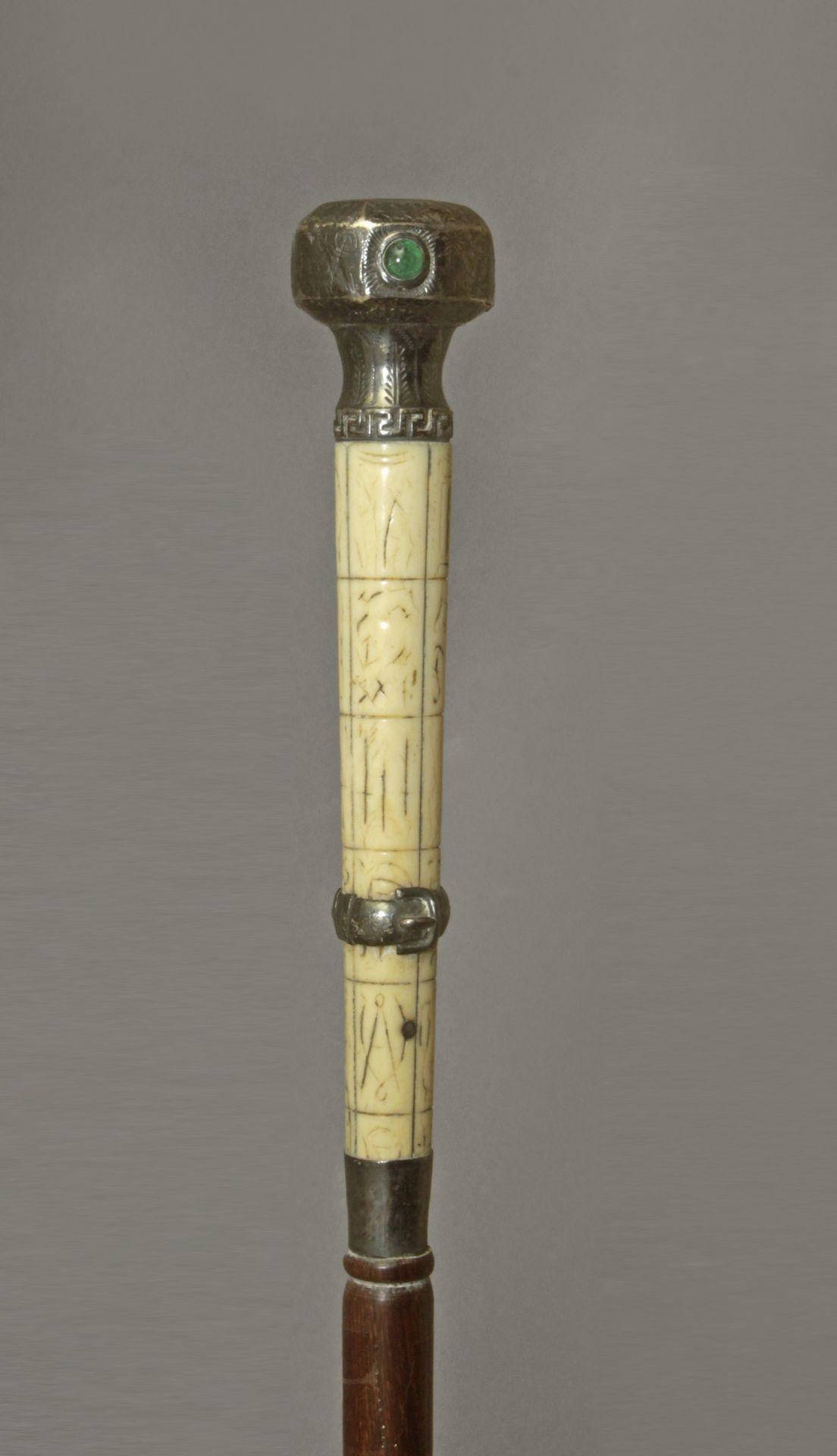 A 19th century Scottish silver and ivory handle dress cane - Bild 3 aus 5