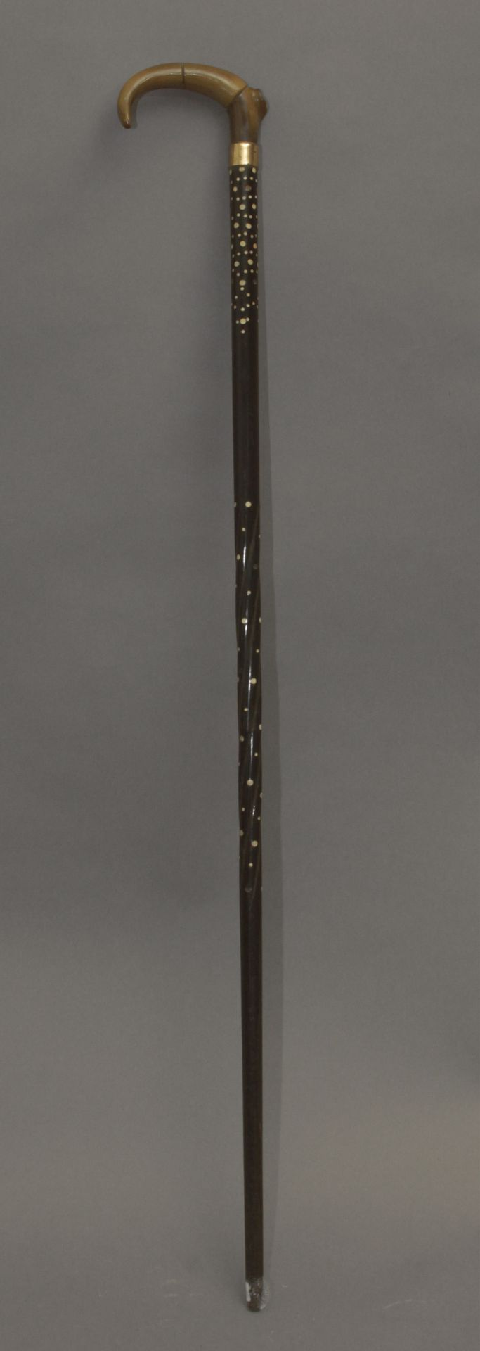 An Anglo-Indian walking stick circa 1900 - Bild 3 aus 5