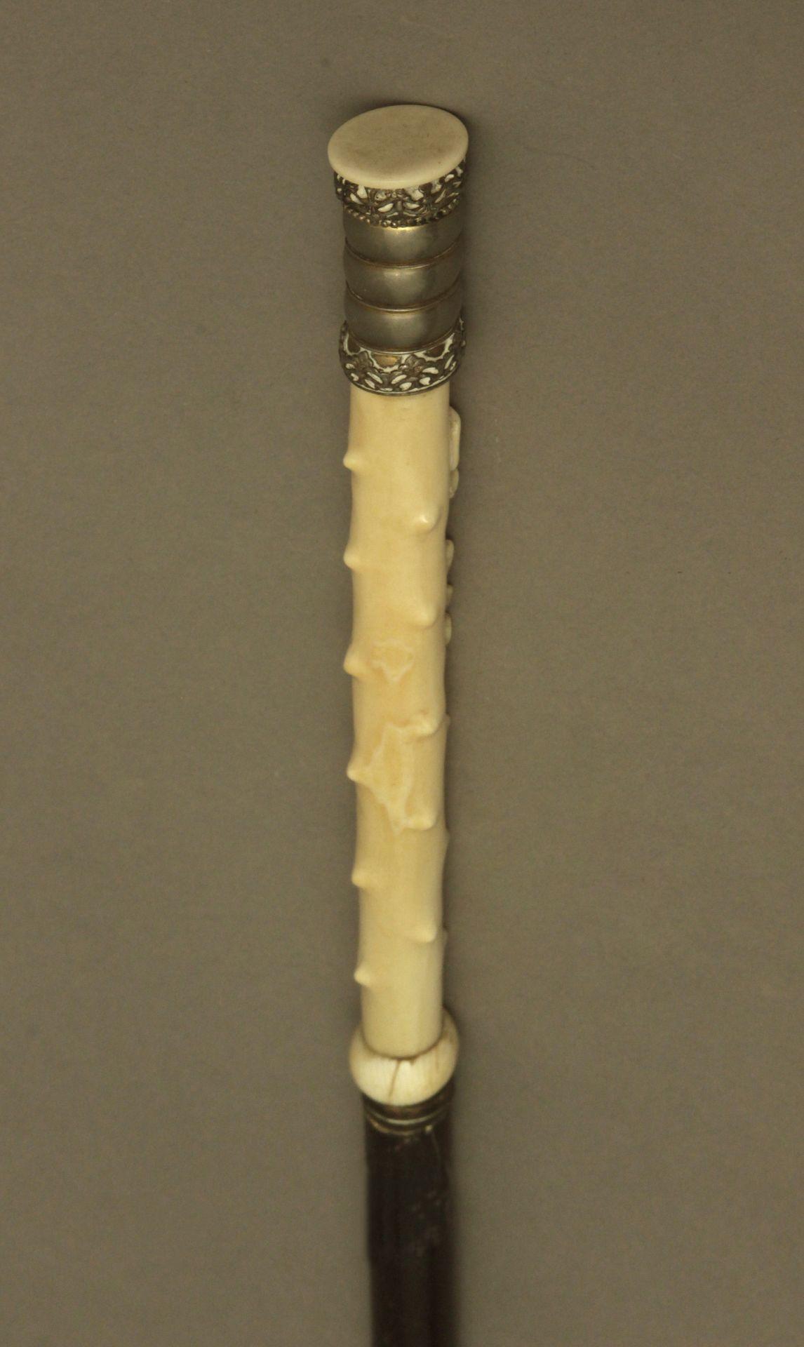 An ivory handled walking stick circa 1900 - Bild 5 aus 9