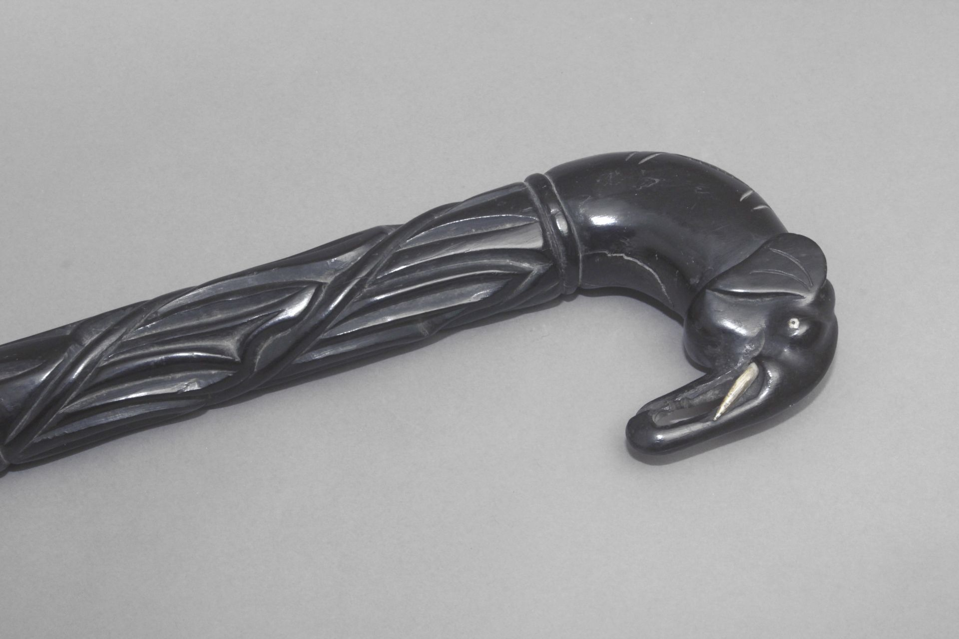 An Anglo-Indian walking cane, possibly from Ceylan, circa 1900