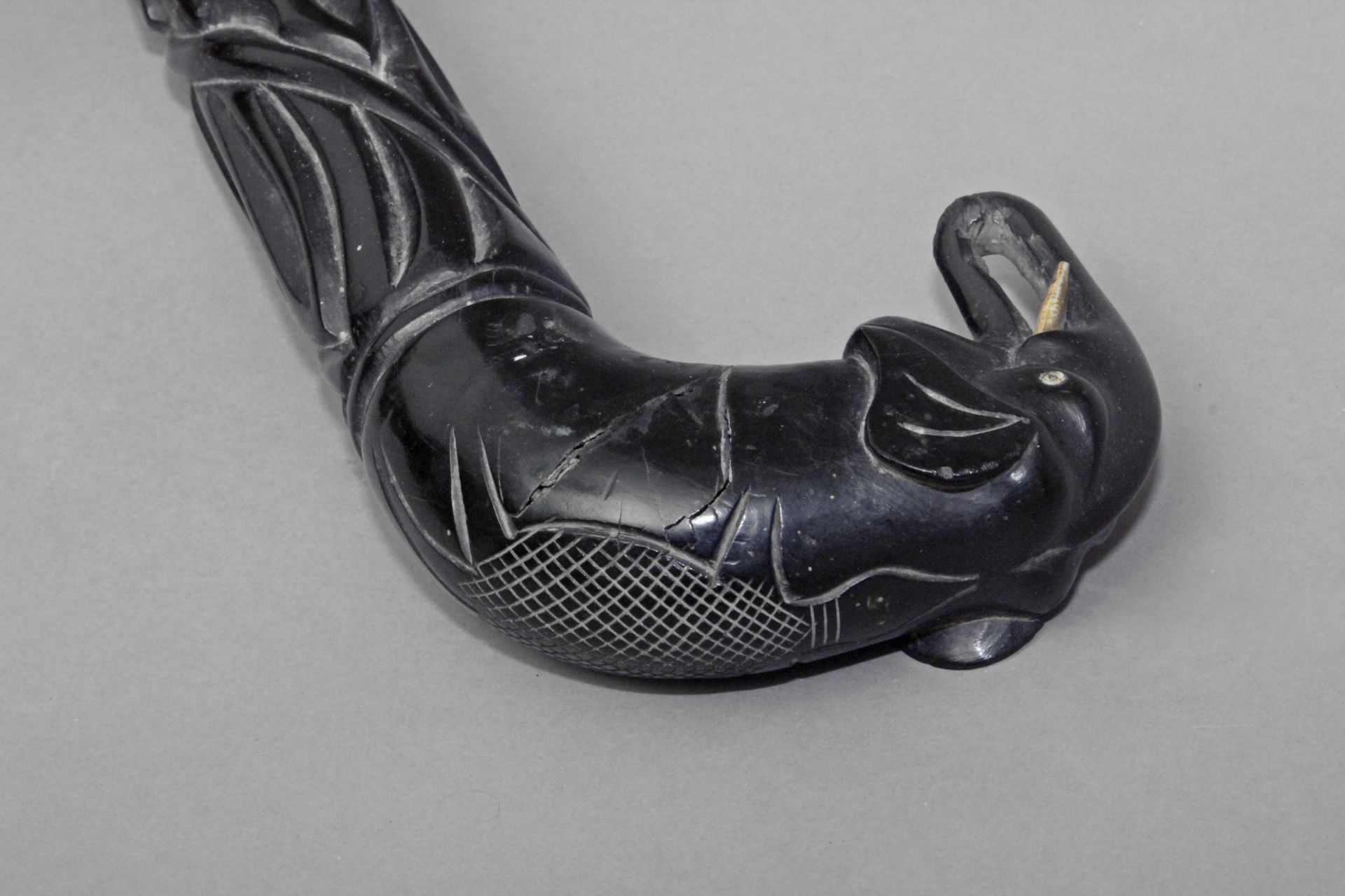An Anglo-Indian walking cane, possibly from Ceylan, circa 1900 - Bild 6 aus 9