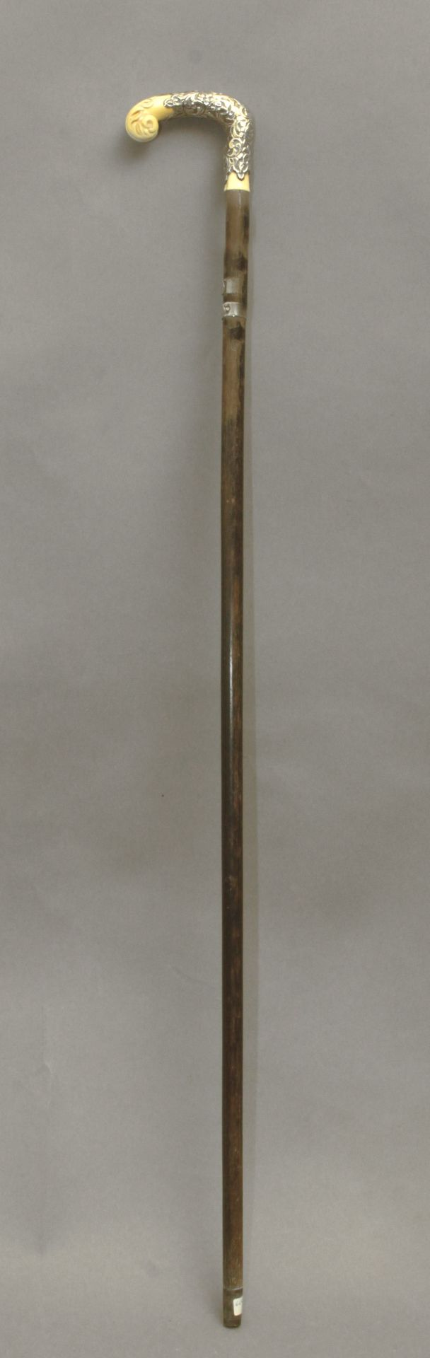 An ivory handled dress cane circa 1900 - Bild 3 aus 8