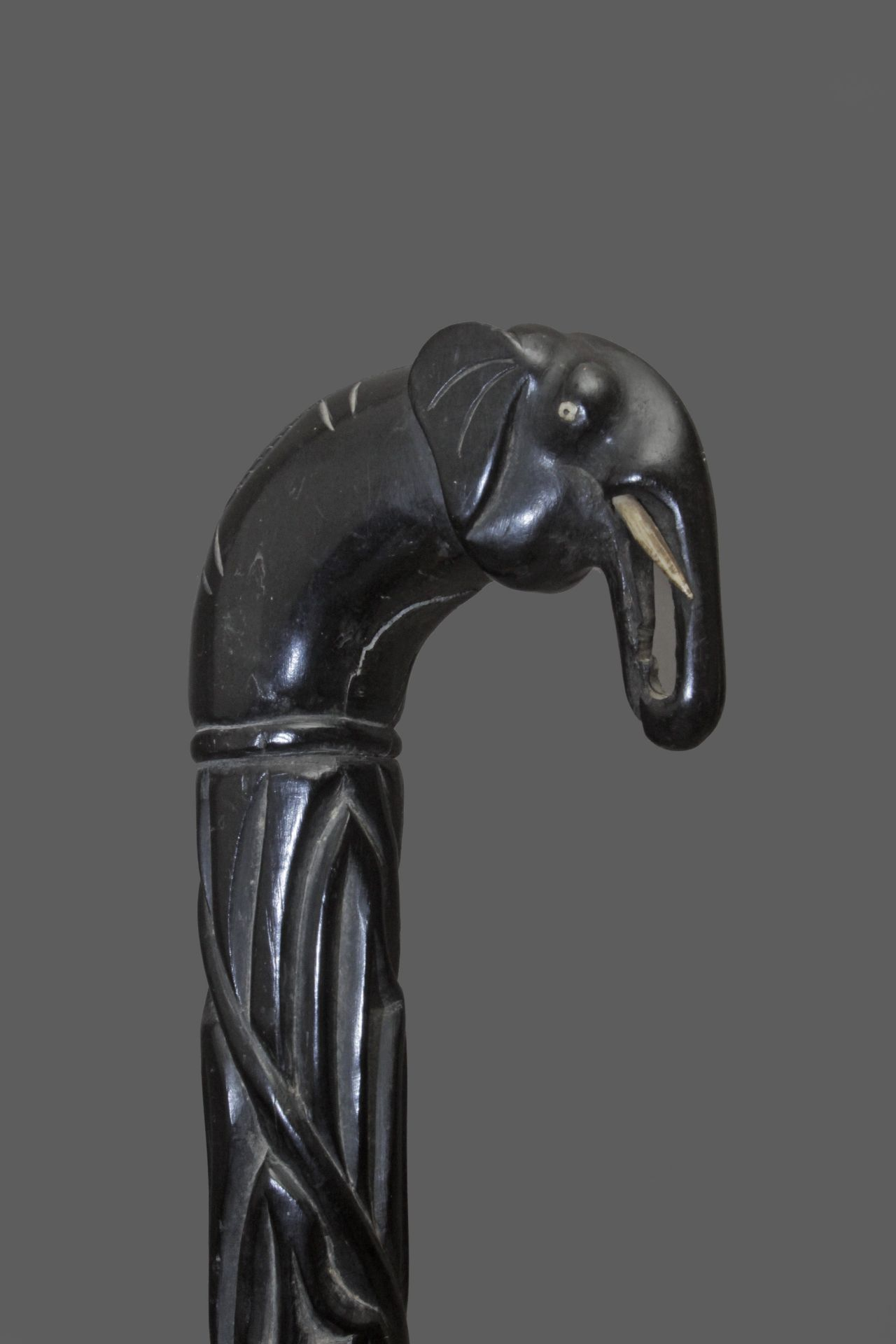 An Anglo-Indian walking cane, possibly from Ceylan, circa 1900 - Bild 4 aus 9