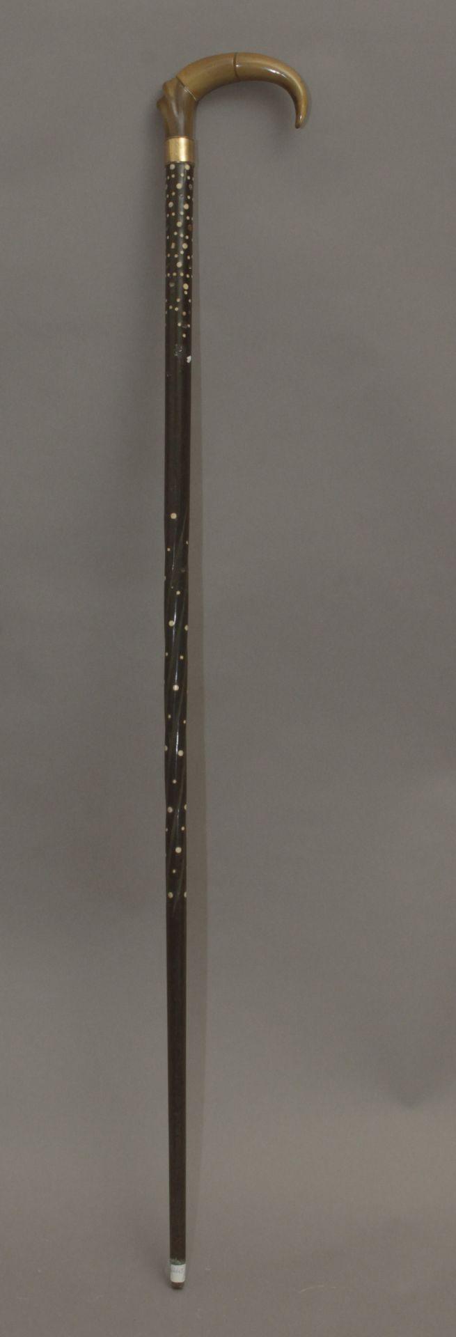 An Anglo-Indian walking stick circa 1900 - Bild 2 aus 5