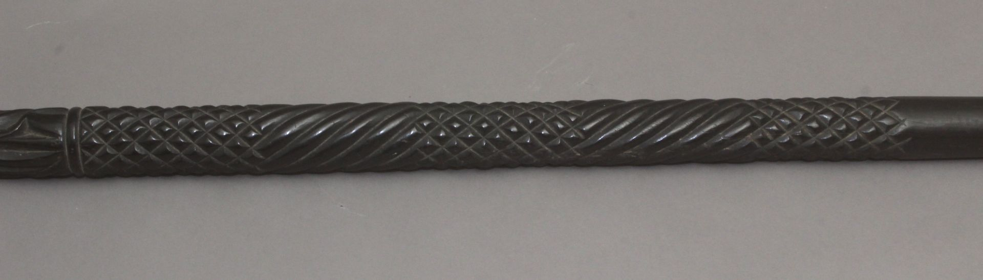 An Anglo-Indian walking cane, possibly from Ceylan, circa 1900 - Bild 7 aus 9