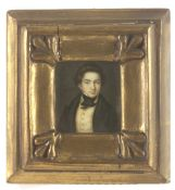 A 19th century Spanish portrait miniature of a gentleman