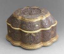 A 19th century Zuloaga style box from Toledo in damascene iron