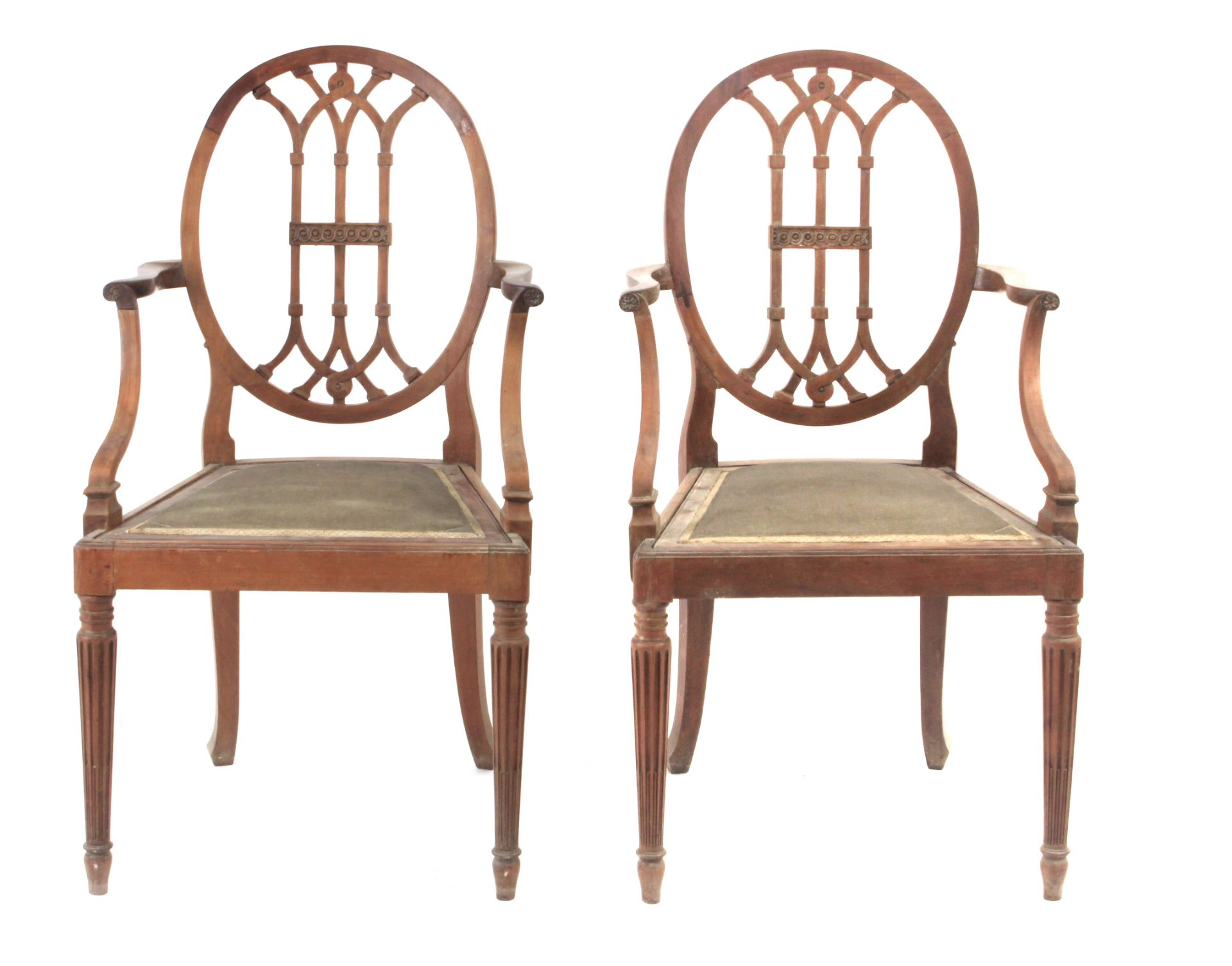 A pair of 19th century mahogany ship chairs - Bild 2 aus 5