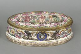 A 19th century Italian box in Capodimonte porcelain