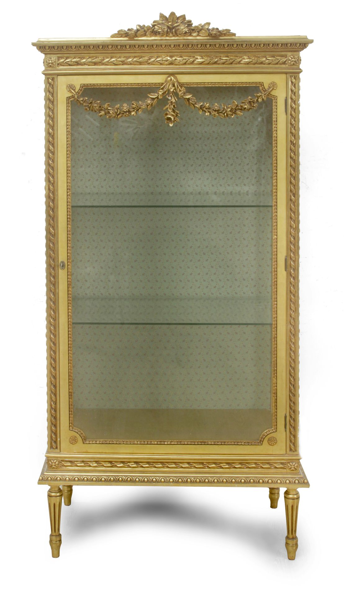 A 20th century Louis XVI style glass cabinet