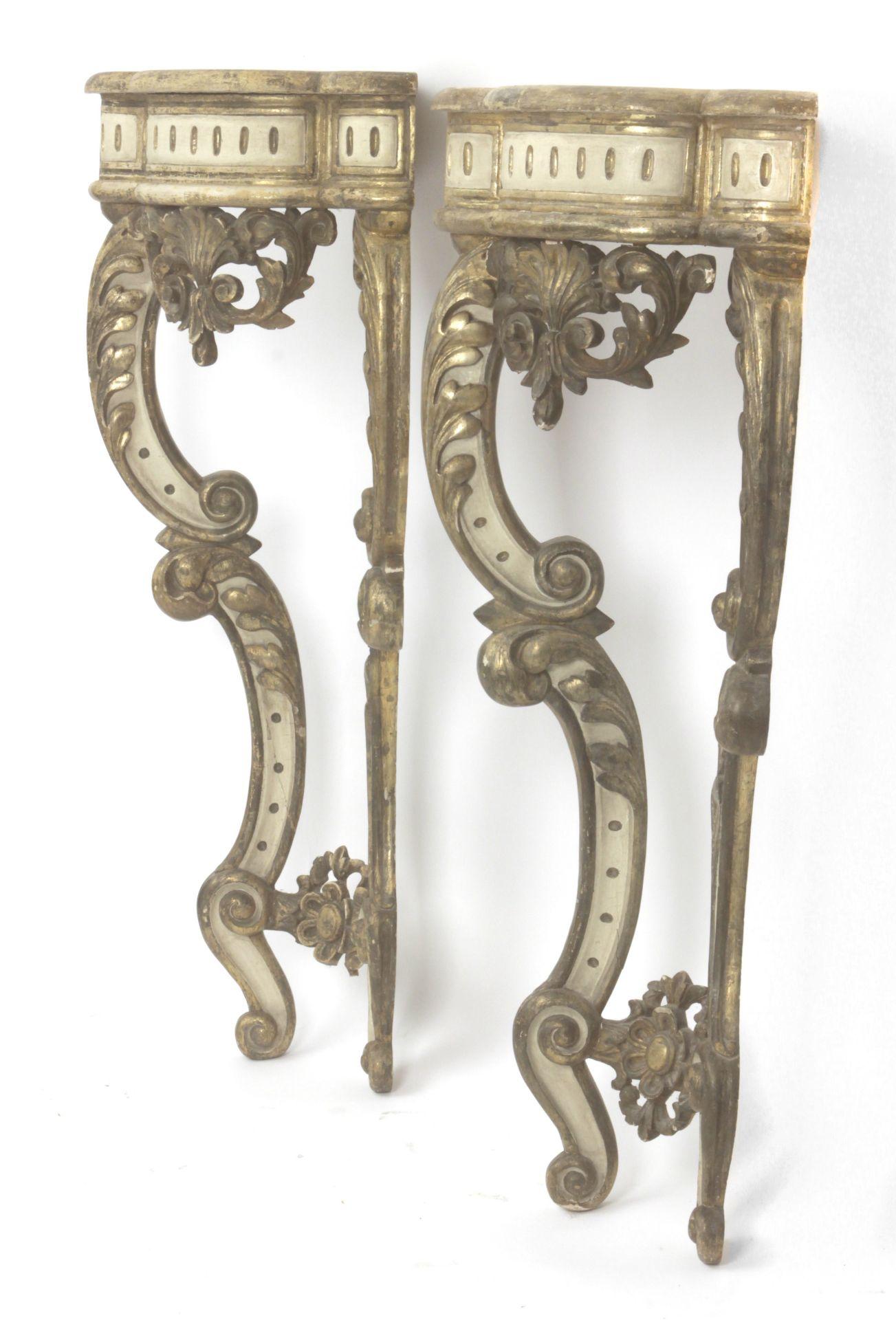 A pair of 20th century Louis XV style corbels - Bild 2 aus 4