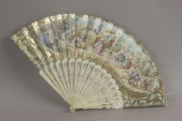 A 19th century French Empire period hand fan