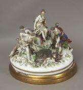 A 19th century German group of figurines in Höchst porcelain
