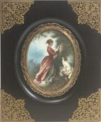 A 19th century French portrait miniature