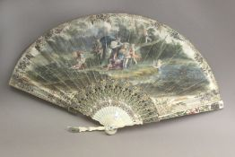 An 18th century European hand fan