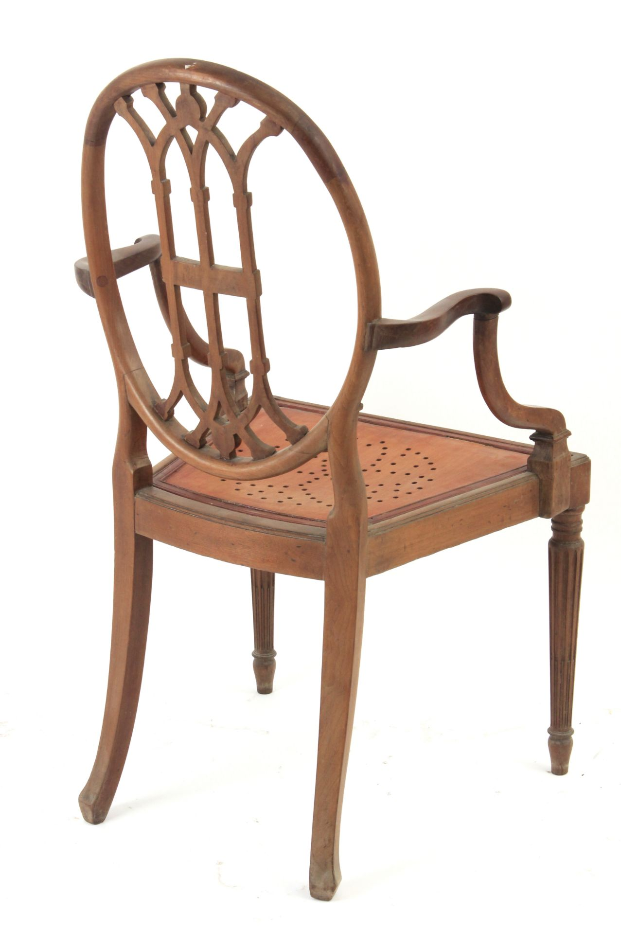 A pair of 19th century mahogany ship chairs - Bild 5 aus 5
