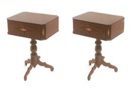 A pair of 19th century Isabelino night stands in mahogany
