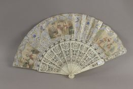 A 19th century French Empire hand fan