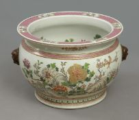 A 19th century Chinese cachepot in Famille Rose porcelain