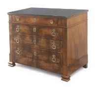 A Restoration period mahogany chest of drawers circa 1814-1830