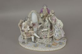 A 19th century gallant scene in Meissen porcelain