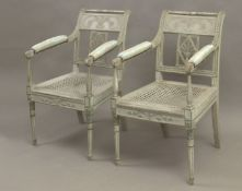 A pair of Directory period chairs