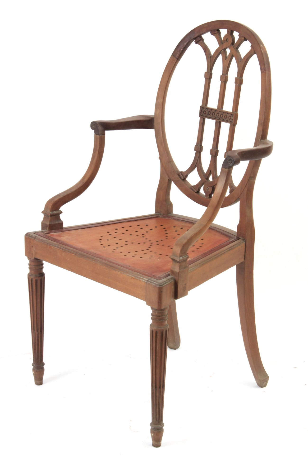A pair of 19th century mahogany ship chairs - Bild 4 aus 5