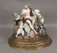 A 19th century mythological scene in Meissen porcelain